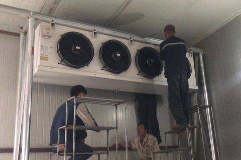 冷风机安装现场