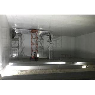 吊装铝排施工现场