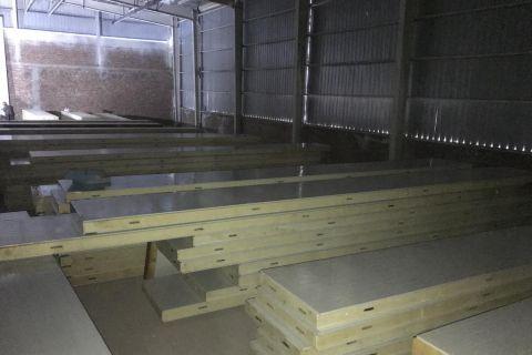 4200立方冷冻库施工现场